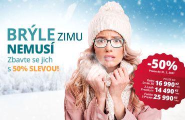 Brýle zimu nemusí. Zbavte se jich s 50% slevou!