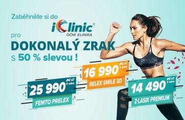 Zaběhněte si do iClinic pro dokonalý zrak s 50 % slevou!